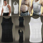 3PCS Men Slimming Body Shaper Vest Underwear, Size::XXL(Black)