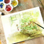 Professional Watercolor Paper Hand Painted Watercolor Book A3 297 420mm
