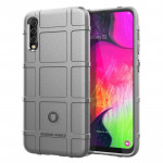 Shockproof Rugged Shield Full Coverage Protective Silicone Case for Galaxy A70 (Grey)