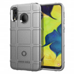 Shockproof Rugged Shield Full Coverage Protective Silicone Case for Galaxy A20 (Grey)