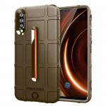 Shockproof Rugged Shield Full Coverage Protective Silicone Case for VIVO IQOO (Brown)