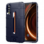 Shockproof Rugged Shield Full Coverage Protective Silicone Case for VIVO IQOO (Blue)