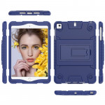 Full Coverage Silicone Shockproof Case for iPad Mini (2019) & 4 & 3 & 2 &1 , with Holder(Blue)