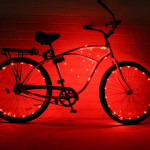 YWXLight 2m 20LEDs LED Bicycle Wheel Light Waterproof Safety Lamp for Night Cycling Spoke Accessories (Red Light)