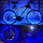 YWXLight 2m 20LEDs LED Bicycle Wheel Light Waterproof Safety Lamp for Night Cycling Spoke Accessories (Blue Light)