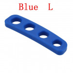 Silicone Shot Lock Basketball Ball Shooting Trainer Training Accessories(Blue L)