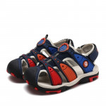 Summer Korean Version Of The New Children\'s Baotou Beach Shoes (Color:Dark Blue Red Size:35)