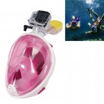 Water Sports Diving Equipment Full Dry Diving Mask Swimming Glasses for GoPro HERO4 /3+ /3 /2 /1, L Size(Pink)