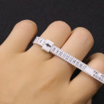 Ring sizer US Official Finger Measure Gauge Men and Womens Sizes A-Z Jewelry Accessory Measurer(US)