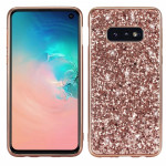 Glitter Powder Shockproof TPU Protective Case for Galaxy S10e (Rose Gold)