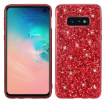 Glitter Powder Shockproof TPU Protective Case for Galaxy S10+ (Red)