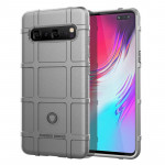 Shockproof Rugged Shield Full Coverage Protective Silicone Case for Galaxy S10 5G(Grey)