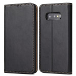 Horizontal Flip PU Leather Case for Galaxy S10e, with Holder & Card Slot & Wallet (Black)