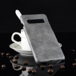 Shockproof Litchi Texture PC + PU Case for Galaxy S10+ (Grey)