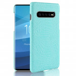 Shockproof Crocodile Texture PC + PU Case for Galaxy S10+ (Green)
