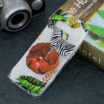 Zebra Pattern Transparent TPU Protective Case for Galaxy S10