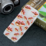 Strawberry Pie Pattern Transparent TPU Protective Case for Galaxy S10