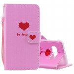 Heart Pattern Horizontal Flip Leather Case for Galaxy S10e, with Holder & Card Slots & Wallet