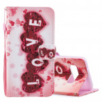 Love Pattern Horizontal Flip Leather Case for Galaxy S10e, with Holder & Card Slots & Wallet