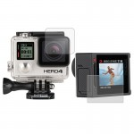 Ultra Clear LCD Screen Protector + Housing Glass Lens Protector Film for GoPro HERO4 Silver Camera