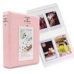 64 Pockets Name Card Pieces for Fujifilm Instax Mini 8 /7s /70 /25 /50s /90(Pink)
