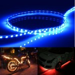 Ice Blue Light Normally-on Style 45 LED 3528 SMD Waterproof Flexible Car Strip Light for Car Decoration, DC 12V, Length: 45cm