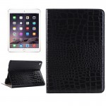 Crocodile Texture Horizontal Flip Smart Leather Case with Holder & Card Slots & Wallet for iPad Mini 4(Black)