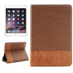Cross Texture Horizontal Flip Smart Leather Case with Holder & Card Slots & Wallet for iPad Mini 4(Brown)