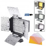 70 LED Video Light with Three Color Temperature Transparent Films (Tawny / White / Purple)