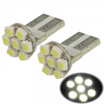 LED Voiture SMD 3528 T10 Blanc 7 Ampoule Signal paire - wewoo.fr