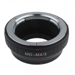 Minolta MD Lens to Olympus M4/3 Lens Mount Stepping Ring(Black)