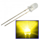 1000 PCS 5mm Yellow Light Water Clear LED Lamp