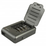 TR-003P4 TrustFire 1x4 Universal Cylindrical Li-ion Battery Charger for 10430/ 10440/ 14500/ 16340/ 17670/ 18500