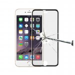 0.3mm 3D Curved Explosion-proof Colorized Tempered Glass Full Screen Film With Titanium Alloy Edge for iPhone 6 & 6s(Black)