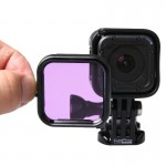 Standard Housing Scuba Accessory Diving Filter for GoPro HERO4 Session(Purple)