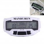 Multifunction LCD Display Cycle Computer Odometer Speedometer (MS-602B)(Silver)