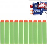 10 PCS 7.2cm EVA Soft Blaster Darts Bullets(Green)