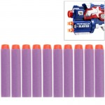 10 PCS 7.2cm EVA Soft Blaster Darts Bullets(Purple)