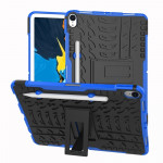 Tire Texture TPU+PC Shockproof Case for iPad Pro 11 inch (2018), with Holder & Pen Slot (Blue)