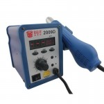 BEST BST-2009D AC 220V 50Hz 700W LED Displayer Adjustable Temperature Unleaded Hot Air Gun with Helical Wind(Blue)