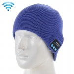 Knitted Bluetooth Headset Warm Winter Hat with Mic for Boy & Girl & Adults(Blue)