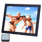 14 inch HD LED Screen Digital Photo Frame with Holder & Remote Control, Allwinner, Alarm Clock / MP3 / MP4 / Movie Player(Black)