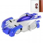 Superior Cool Infrared Control Toy Car Remote Control RC Wall Climber Car Climbing Stunt Car(Blue)