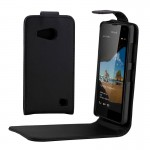 Vertical Flip Magnetic Buckle PU Leather Case for Microsoft Lumia 550(Black)