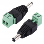 5 PCS 5.5 x 2.1mm DC Power Male Connector for CCTV Camera