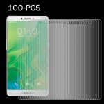 100 PCS OPPO R7s 0.26mm 9H+ Surface Hardness 2.5D Explosion-proof Tempered Glass Film