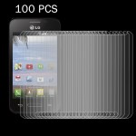 100 PCS for LG Optimus Fuel L34C 0.26mm 9H+ Surface Hardness 2.5D Explosion-proof Tempered Glass Film