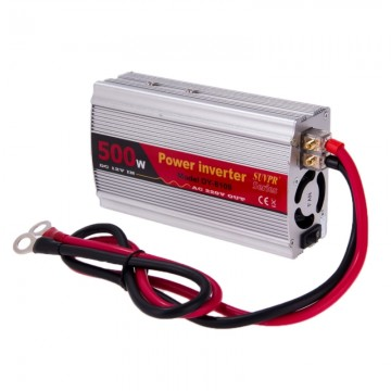 SUVPR DY-8109 500W DC 12V to AC 220V Car Power Inverter with 500mA USB Port  & Universal Power Socket