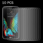 10 PCS for LG K10 0.26mm 9H Surface Hardness 2.5D Explosion-proof Tempered Glass Screen Film