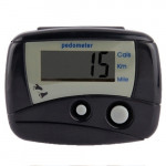 Multifunction Digital Electronic Pedometer Step Counter (Black)